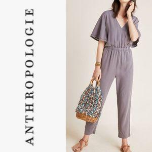 CLOTH & STONE Gulpiyuri Flutter Sleeve Jumpsuit M